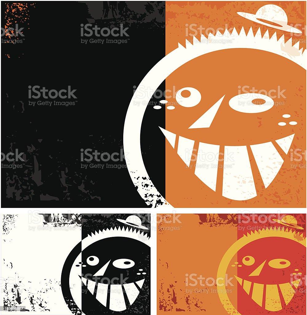 backgroud grunge con cara royalty-free stock vector art