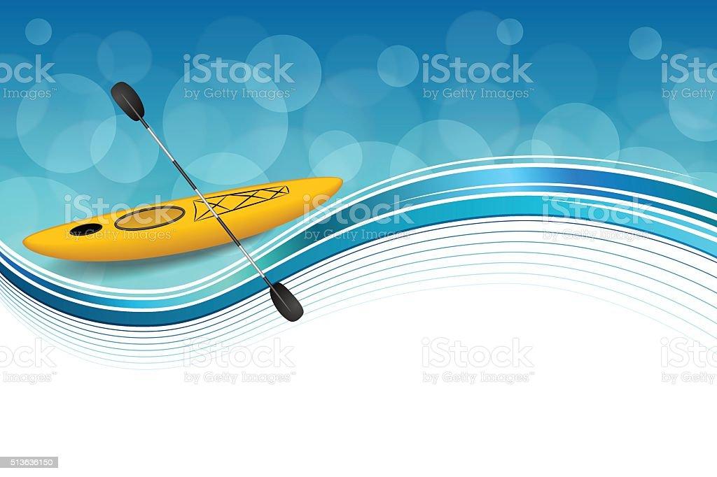 Background abstract blue yellow kayak sport frame illustration vector vector art illustration