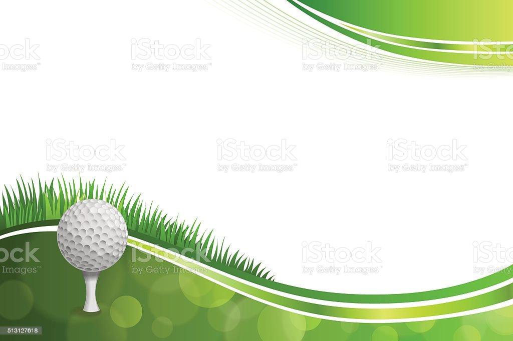 Background abstract green golf sport white ball illustration vector vector art illustration