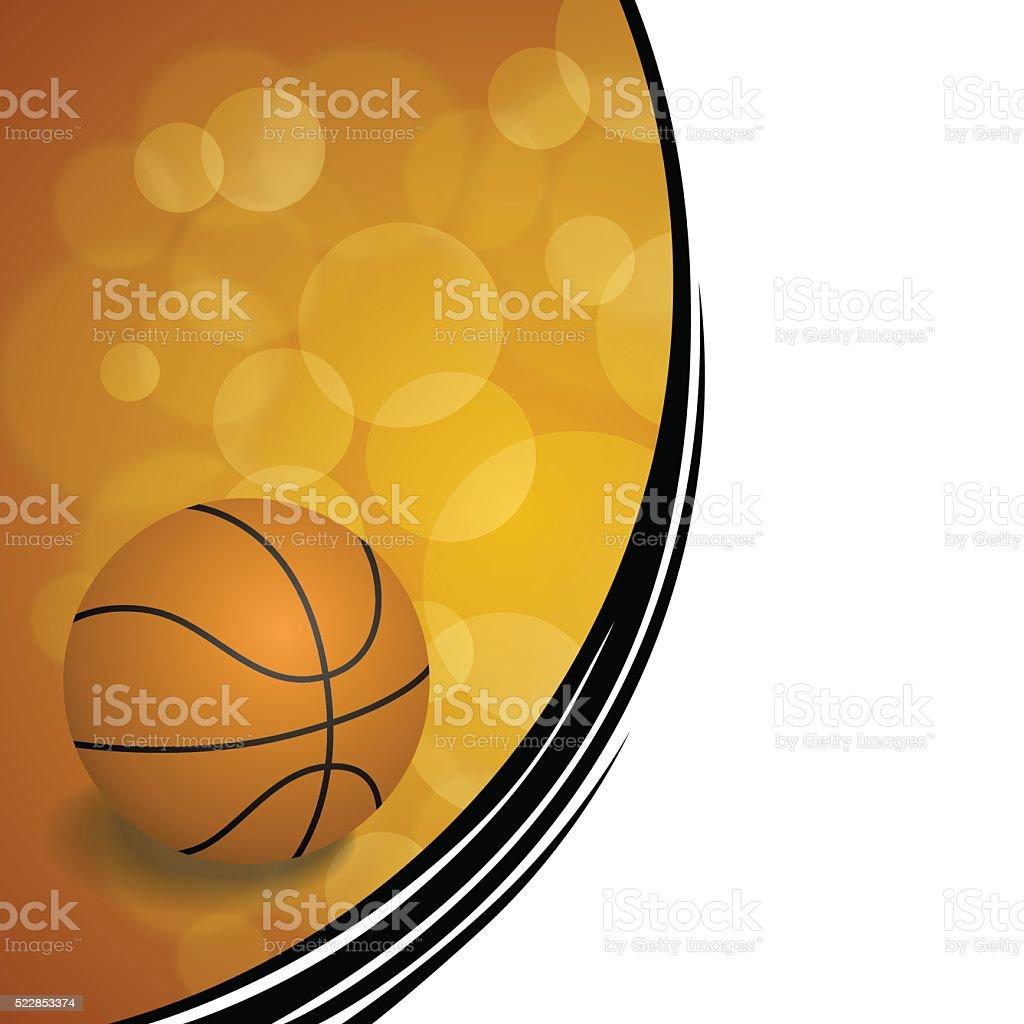 Background abstract orange black sport basketball ball illustration vector vector art illustration