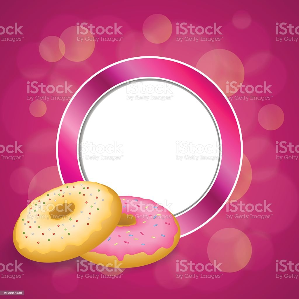 Vector Illustration Bright Smile Donut Phone Stock Vector ...