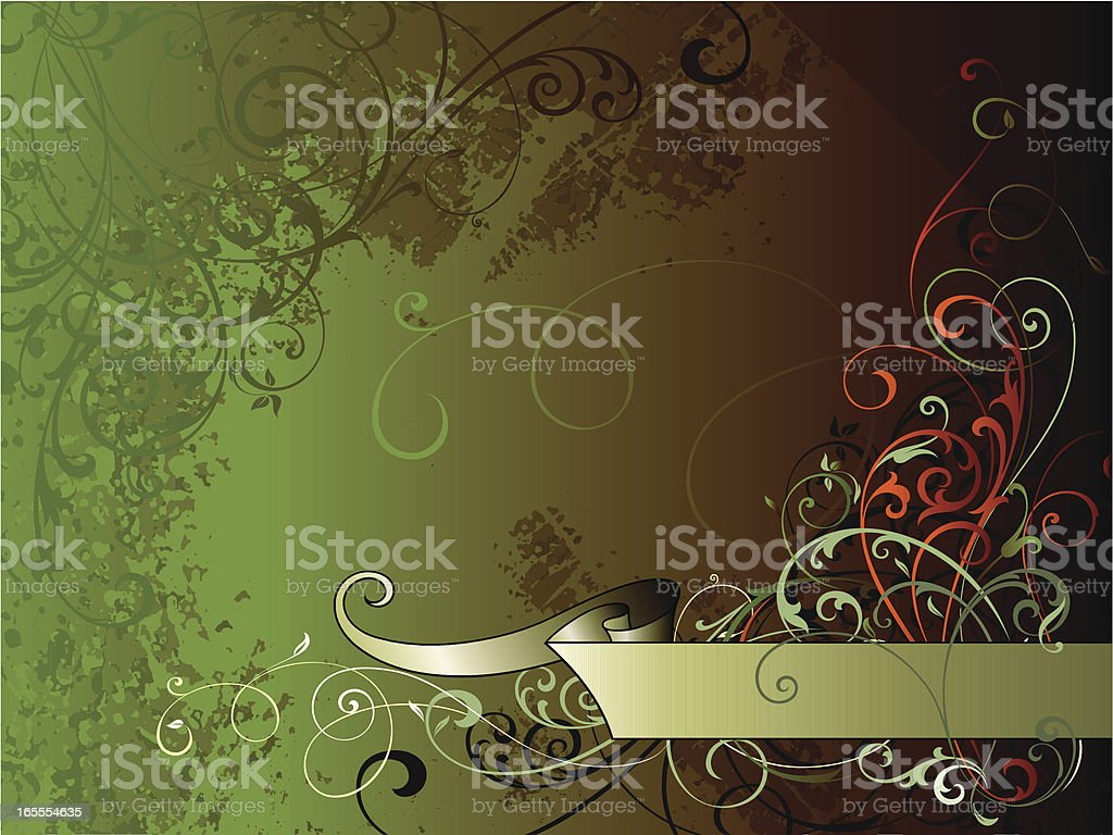 Background Banner Scrolls royalty-free stock vector art