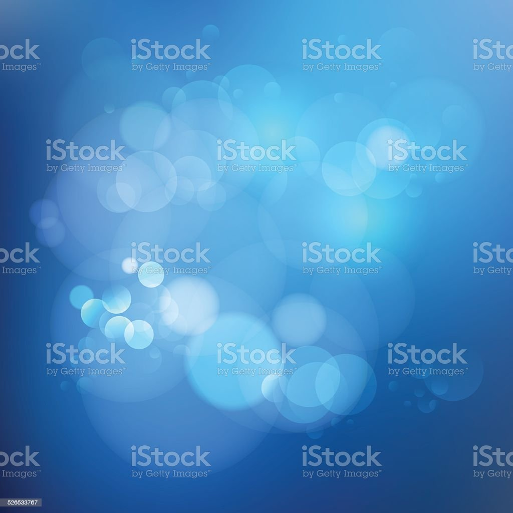 Background blue gradient color with bubbles vector art illustration