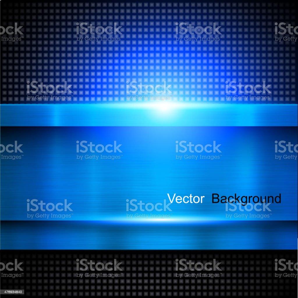 Background blue metal vector art illustration