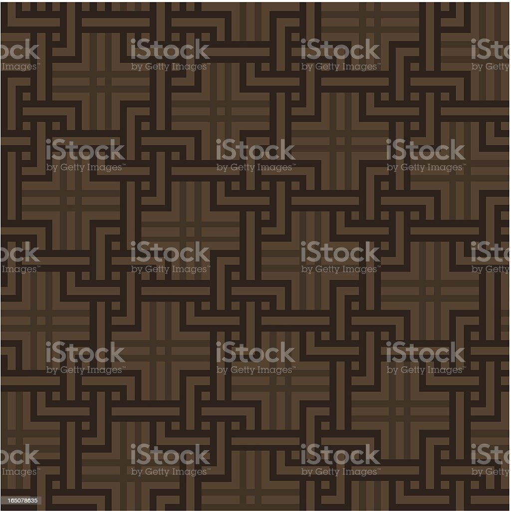 Background - Brown Wallpaper (Seamless) royalty-free stock vector art