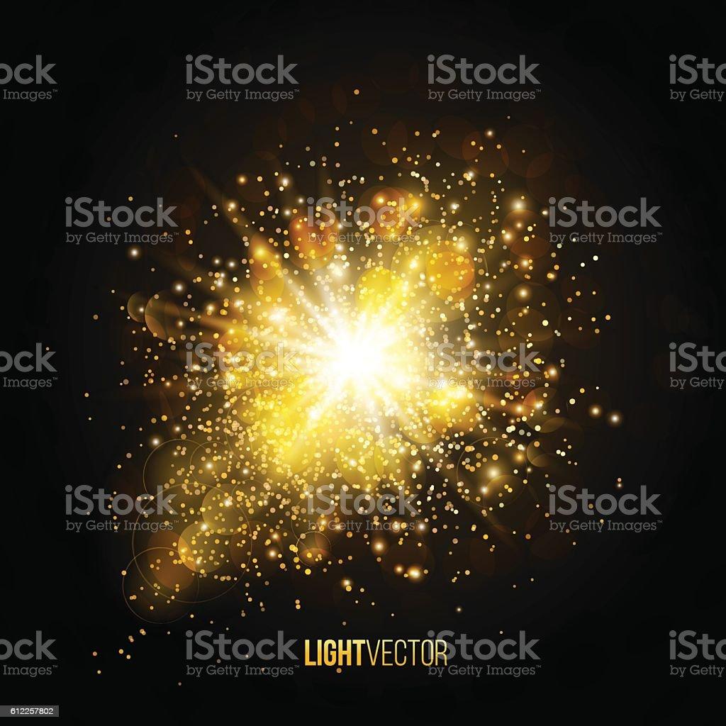 Background burst with sparkles vector art illustration