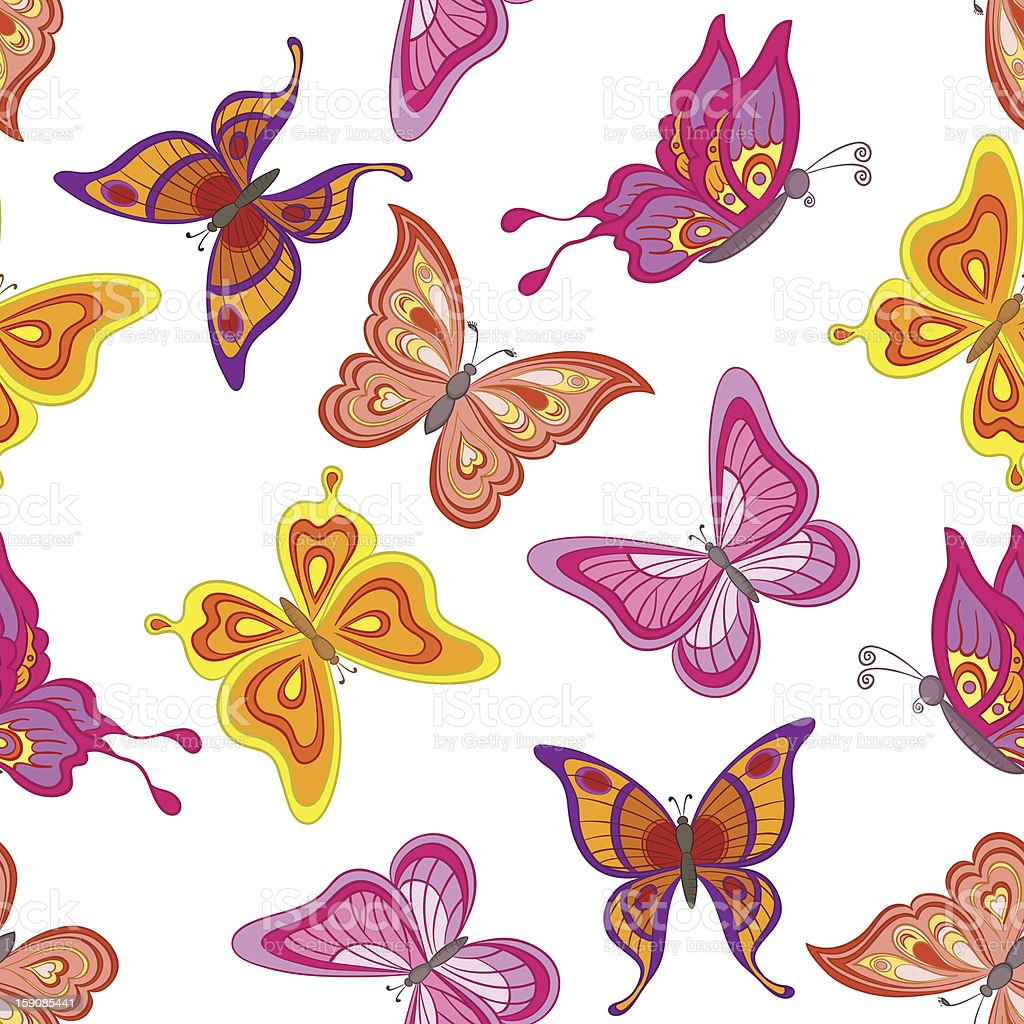 Background, butterflies royalty-free stock vector art