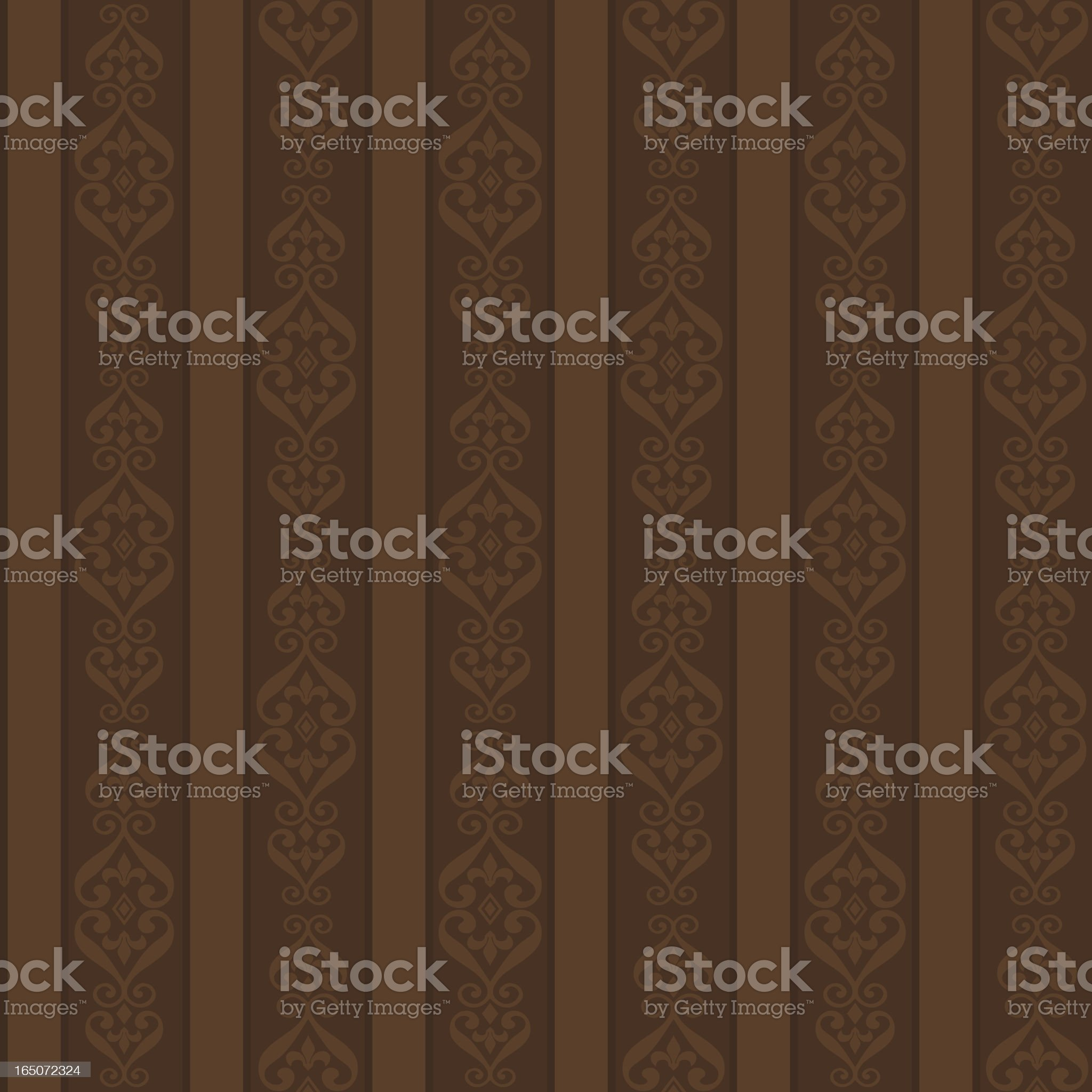 Background - Chocolate Stripes (Seamless) royalty-free stock vector art