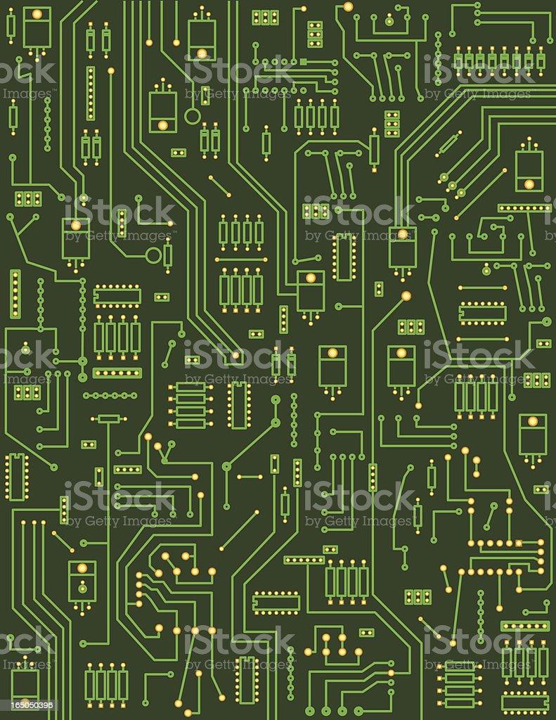 Background - Circuitboard vector art illustration