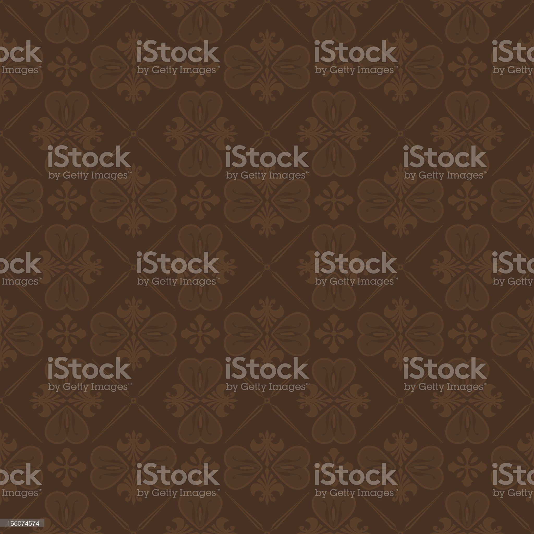 Background - Cocoa Wallpaper (Seamless) royalty-free stock vector art