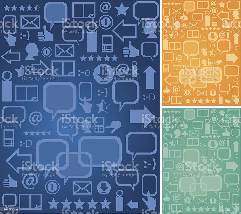 Background communication vector art illustration