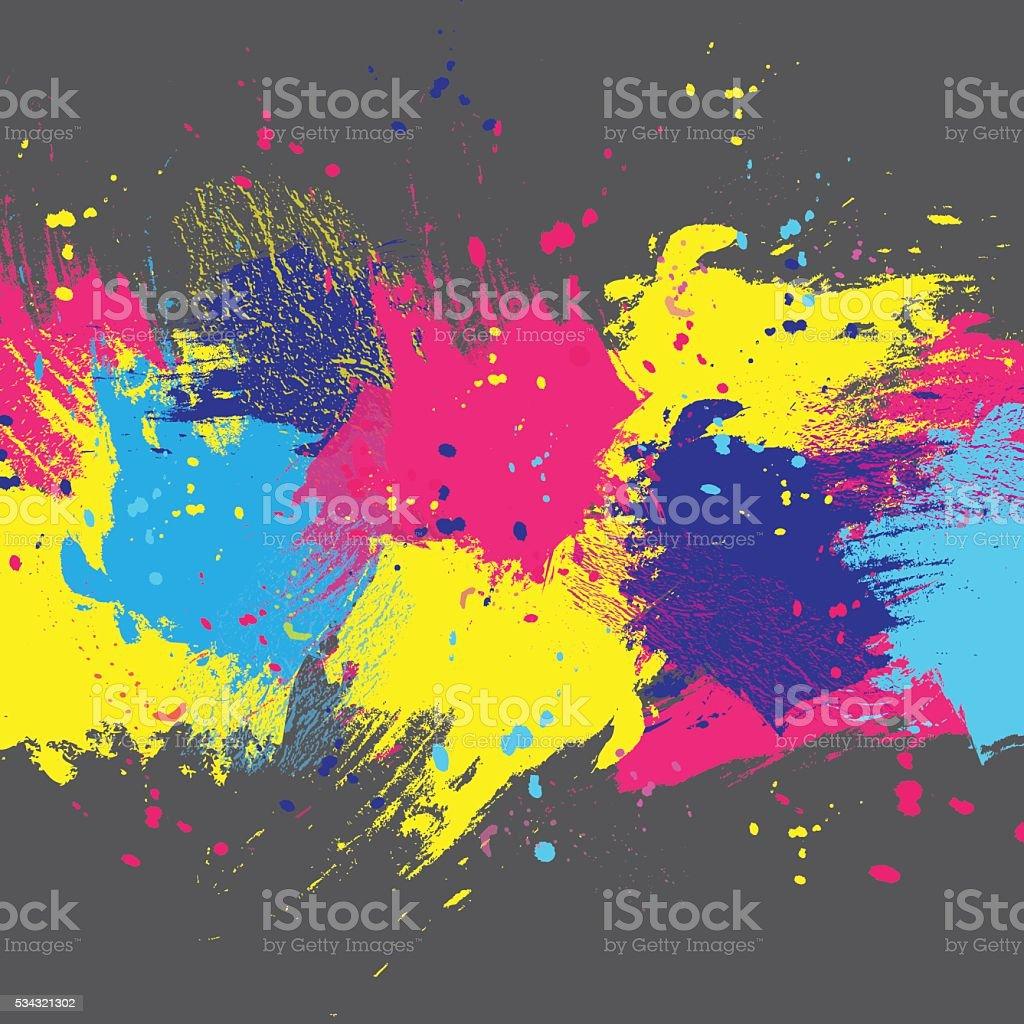 Background dark color paint vector art illustration