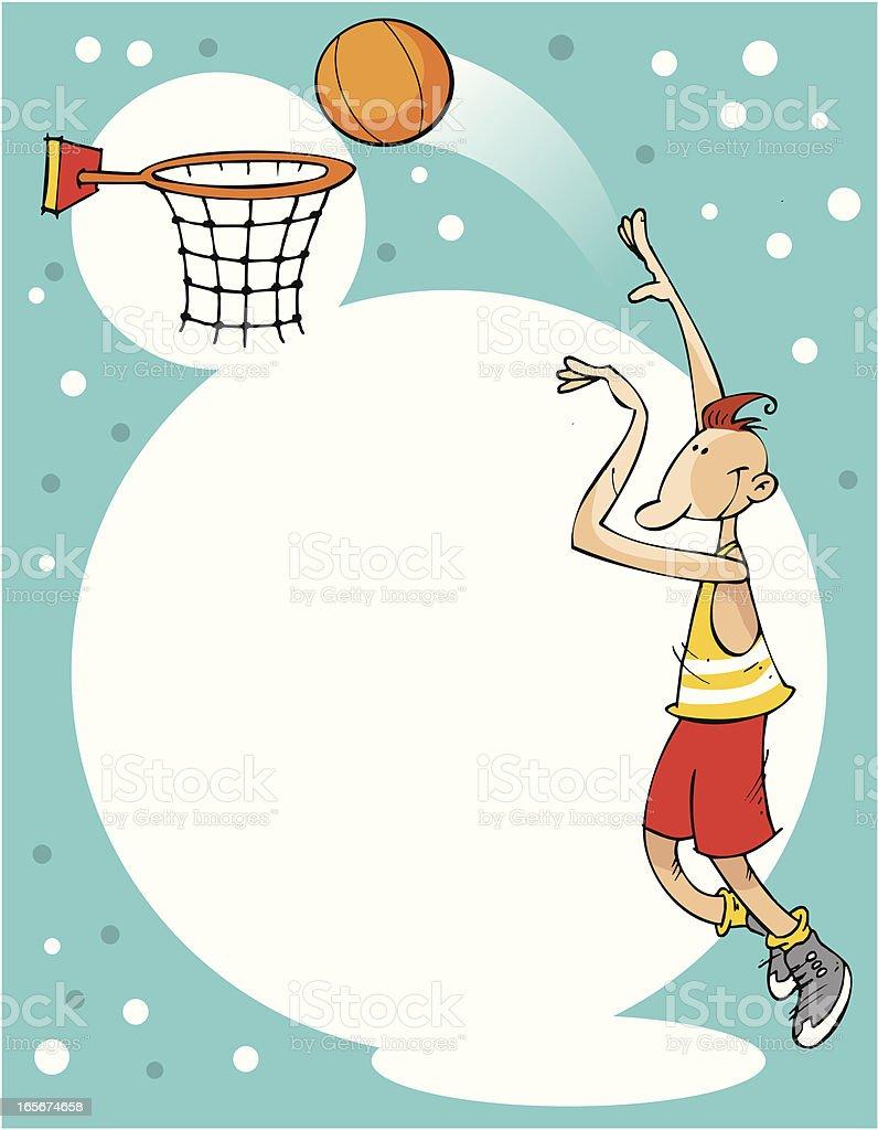 background de baloncesto vector art illustration