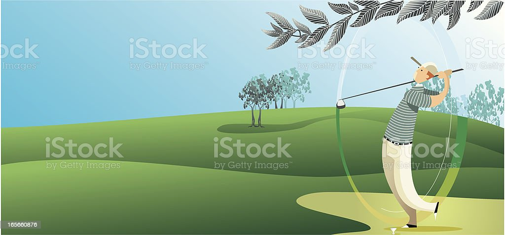 background de golf vector art illustration