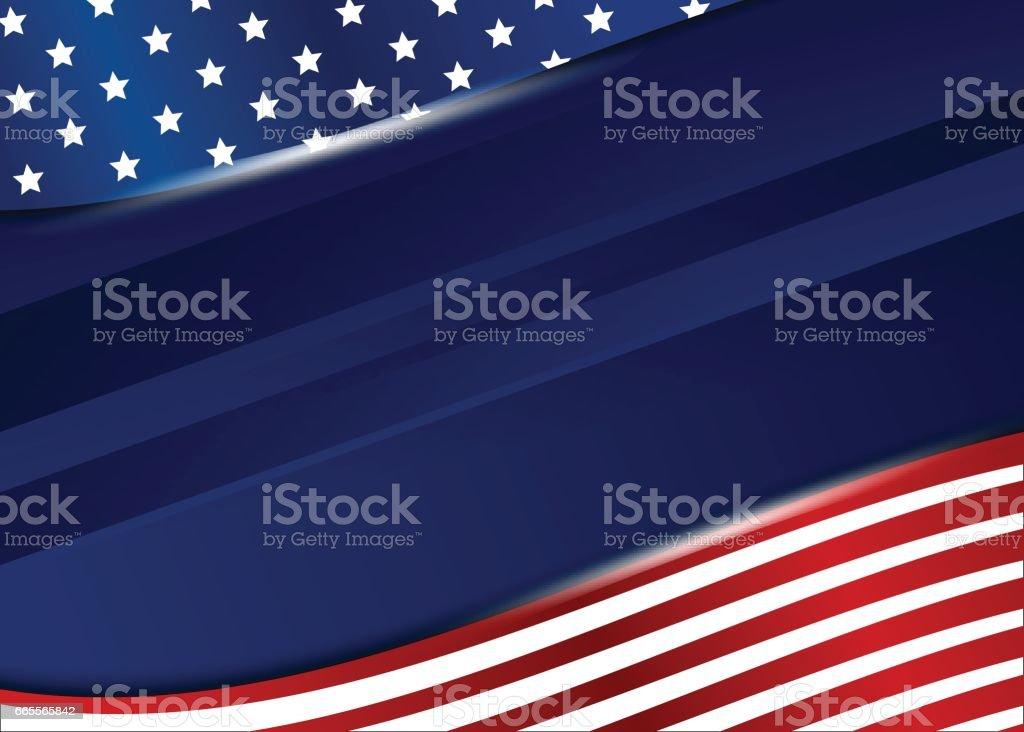 USA background design on white background vector art illustration