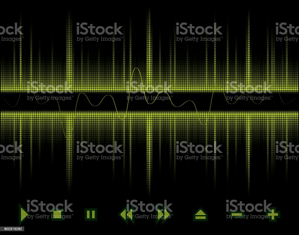 Background Design Sound Wave, Sound, Music and Beat vector art illustration