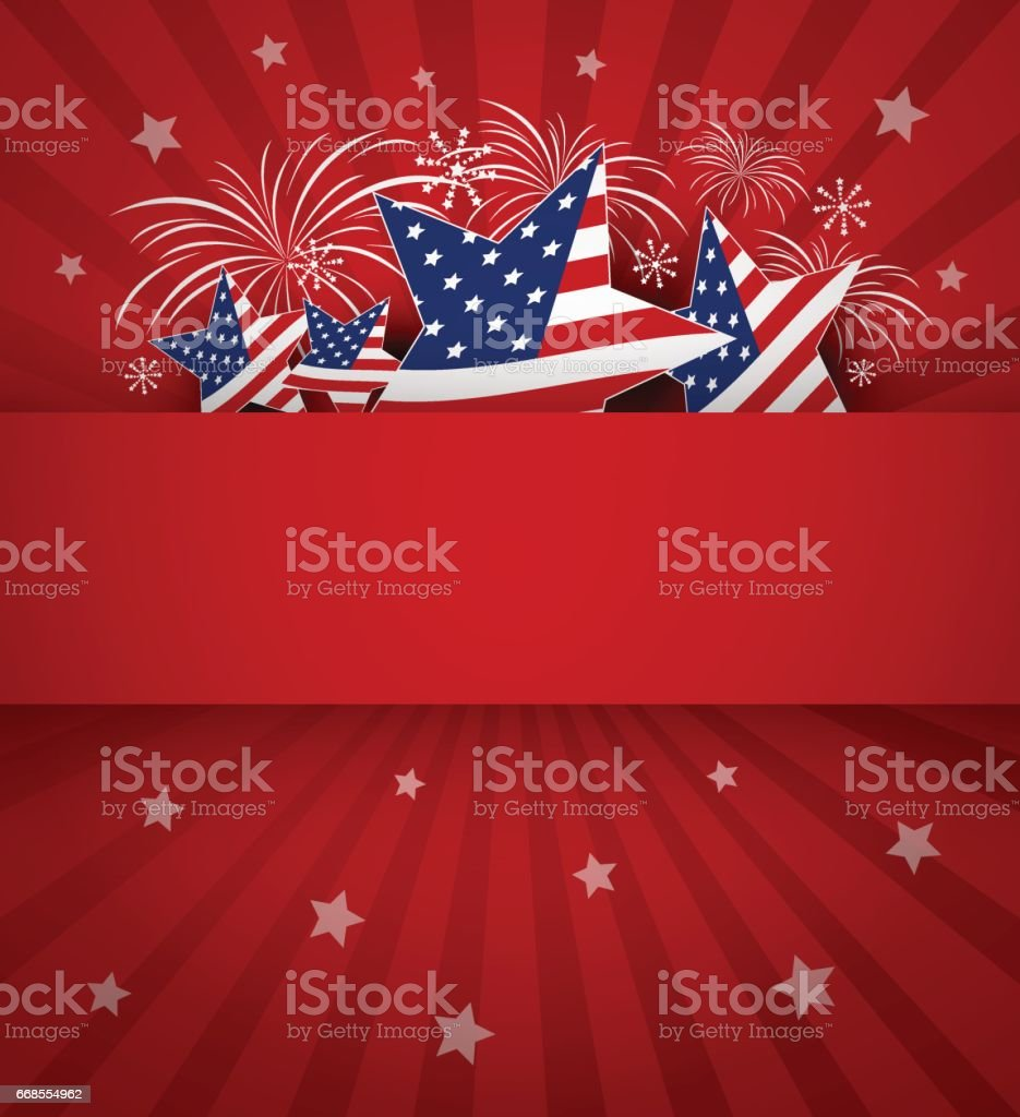 USA background design vector art illustration
