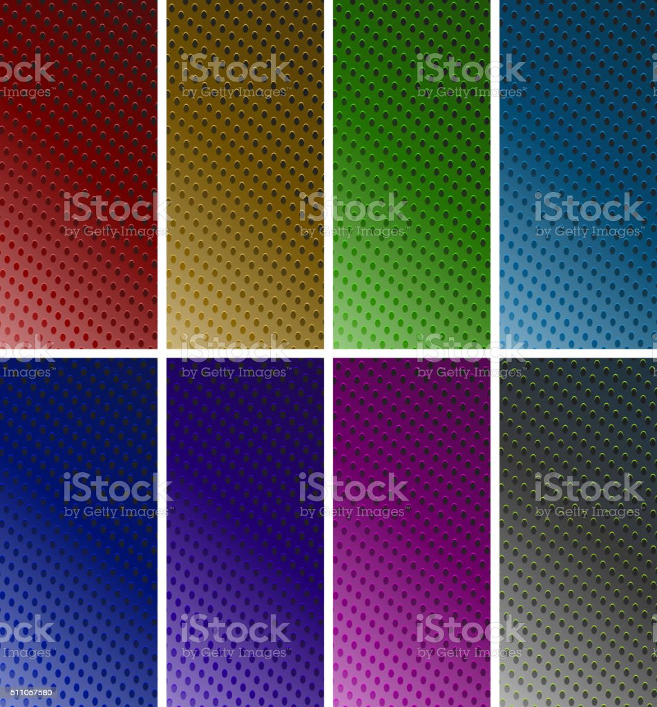 Background design with dots in six colors vector art illustration