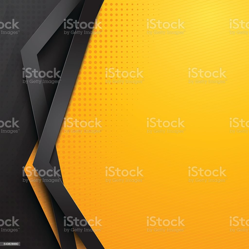 background design  yellow and black vector art illustration