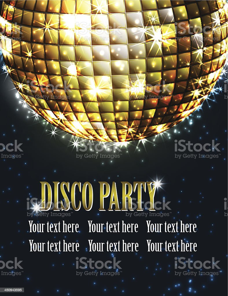 background disco party royalty-free stock vector art