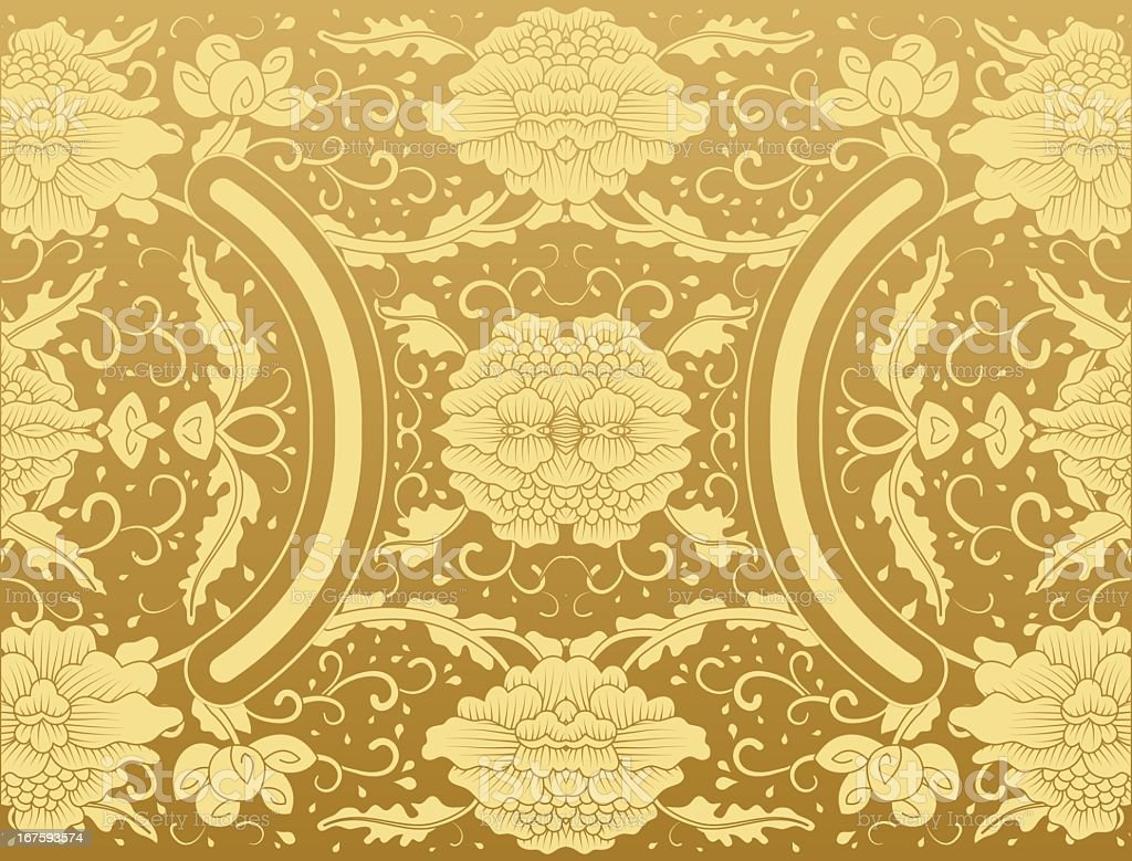 background floral vintage gold vector vector art illustration