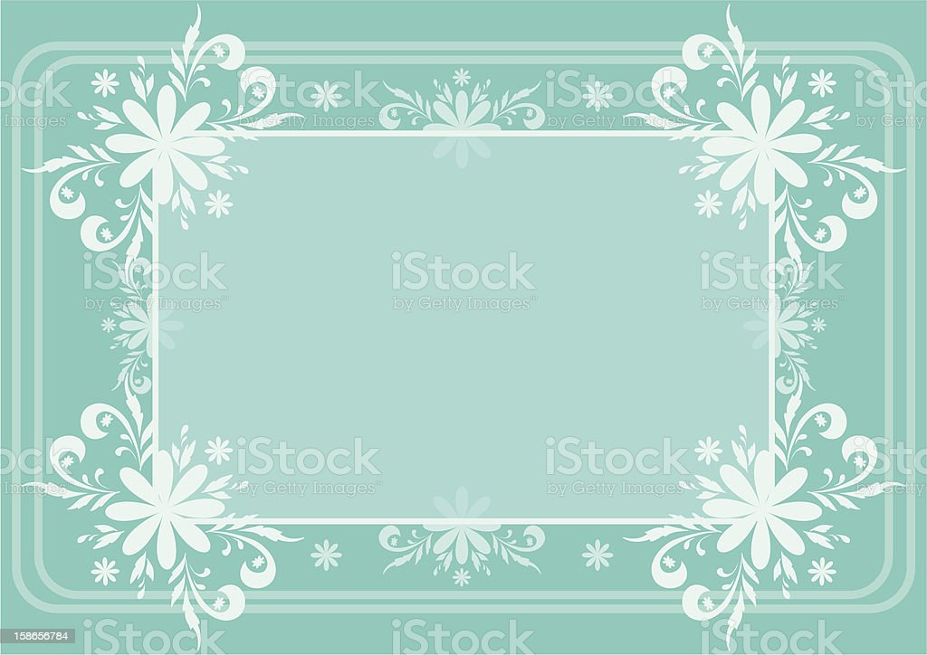 Background, flowers and frame royalty-free stock vector art