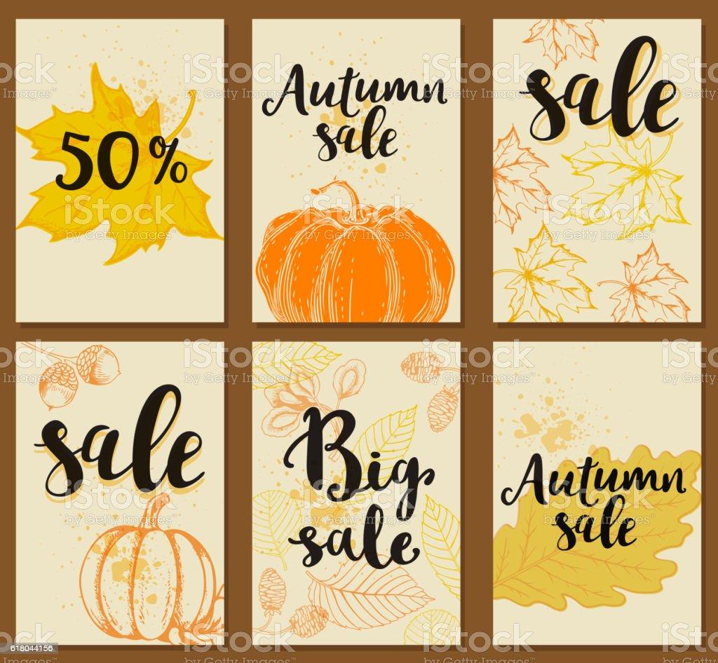 Background for autumn sale vector art illustration