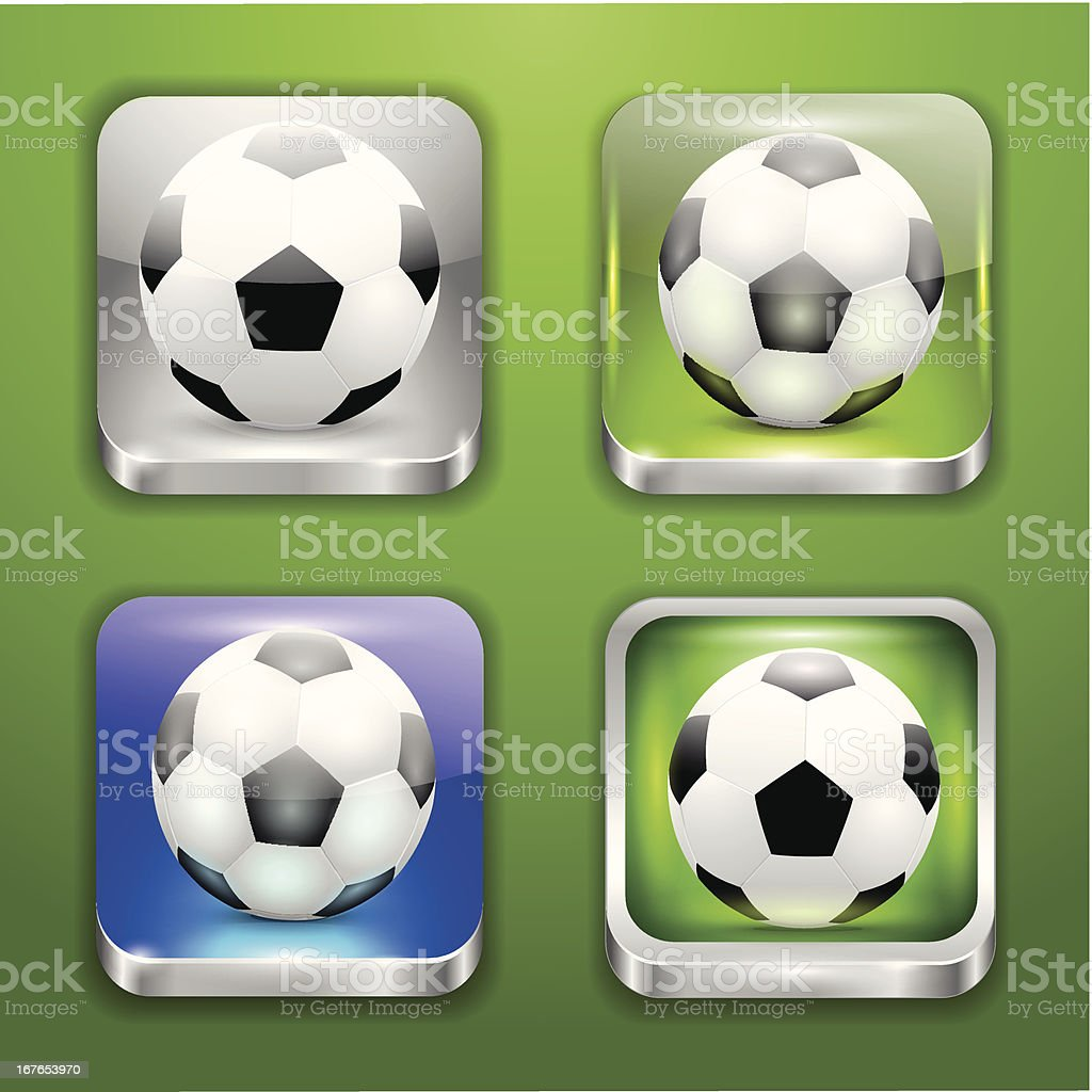 background for the app icons-soccer part royalty-free stock vector art