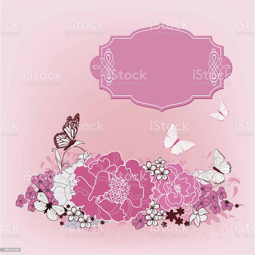 background for the design of flowers royalty-free stock vector art