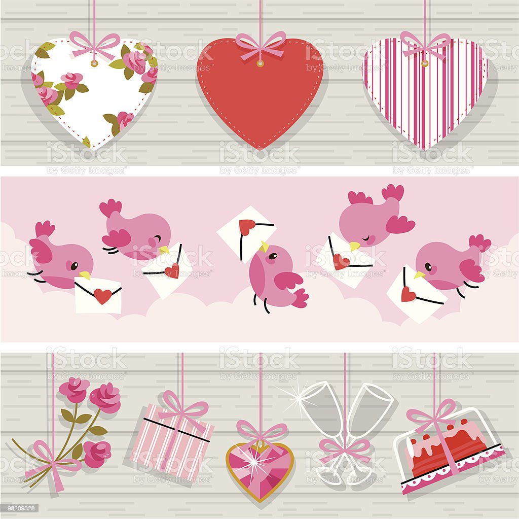 Background for Valentine's day. royalty-free stock vector art