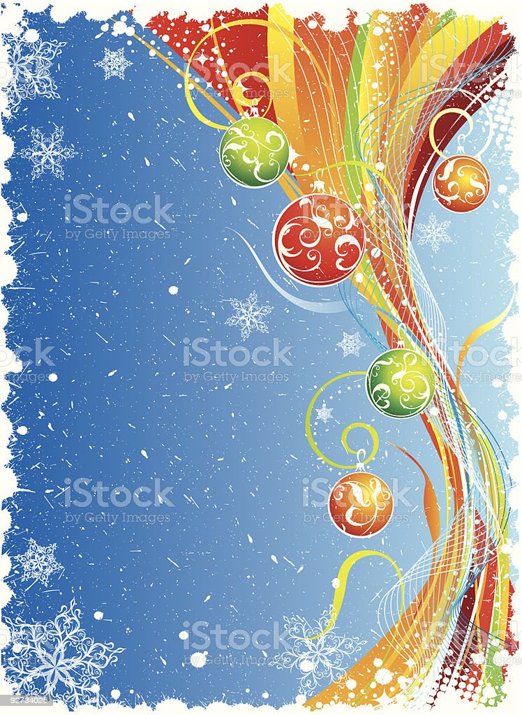 Background for winter holidays with decoration royalty-free stock vector art