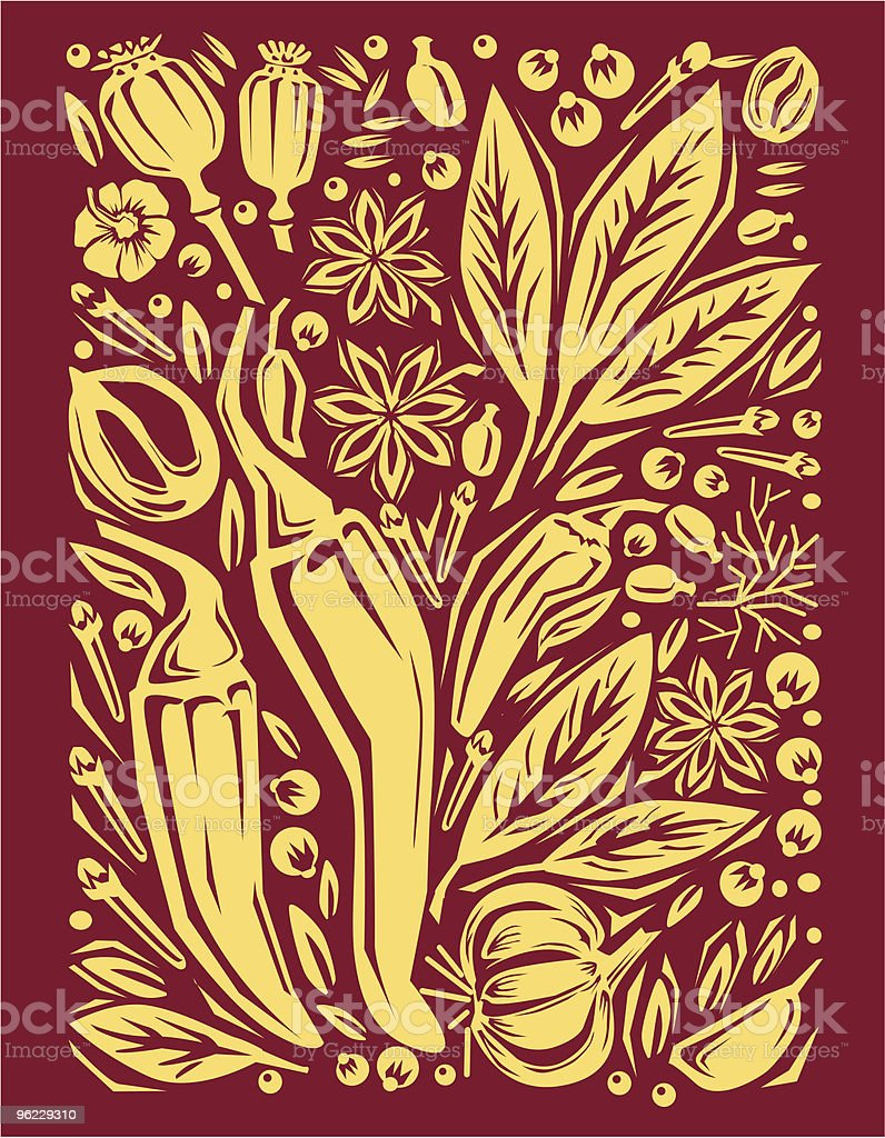 Background from a spice royalty-free stock vector art