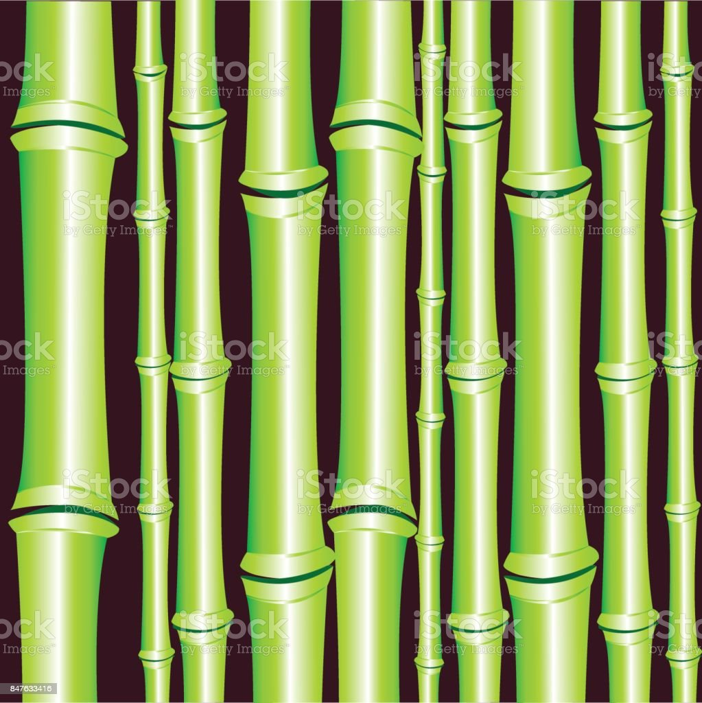 Background from bamboo vector art illustration