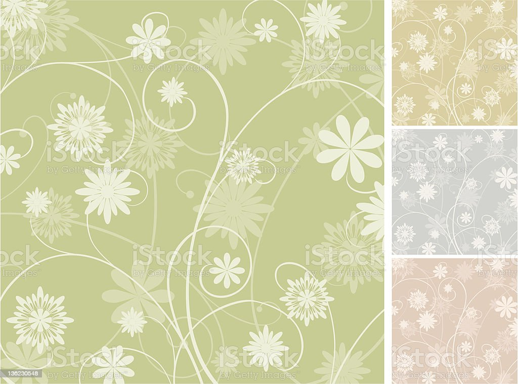 background from curls and flowers stock photo