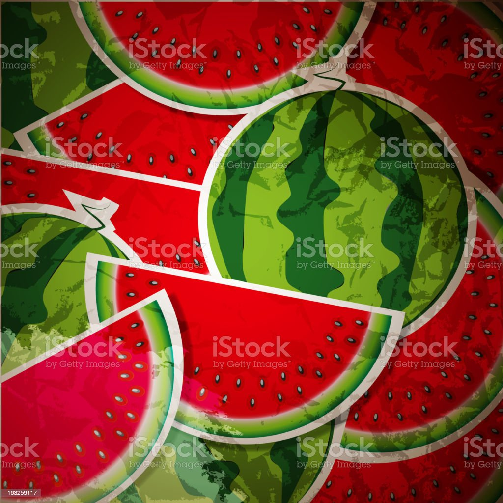 Background from watermelon. Vector illustration. royalty-free stock vector art