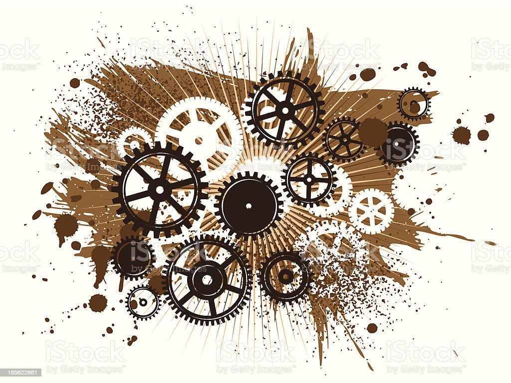 background gears royalty-free stock vector art