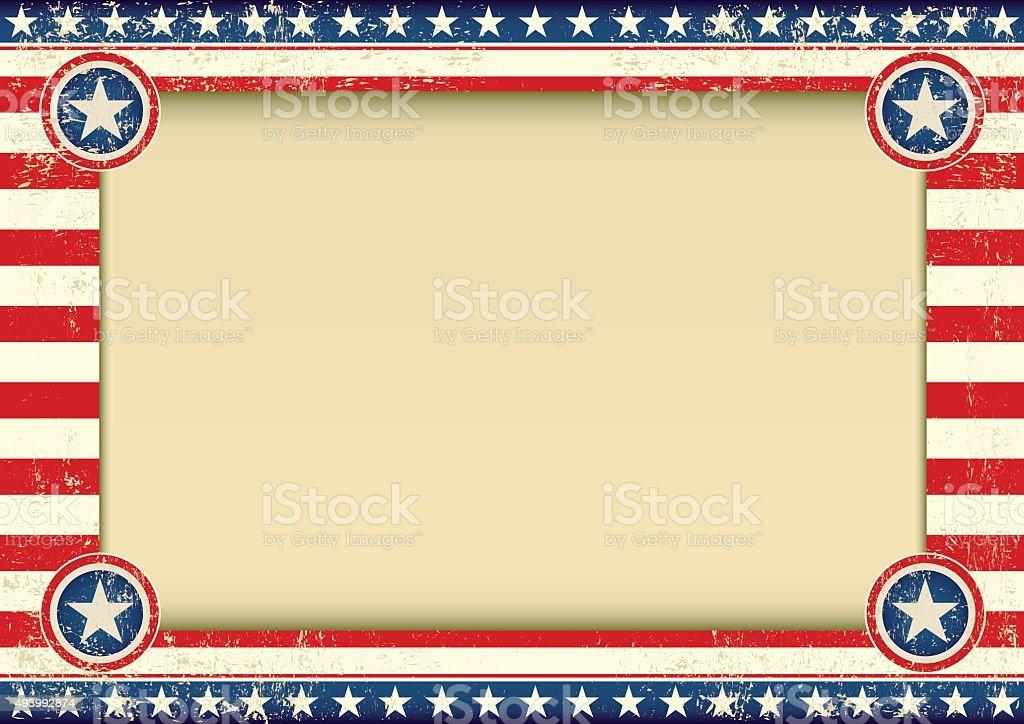 US background horizontal vector art illustration
