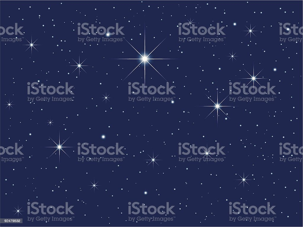 Background image of a starry sky royalty-free stock vector art
