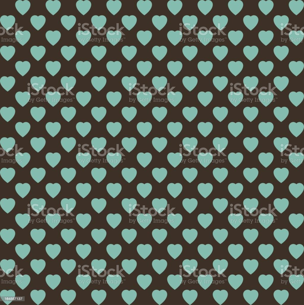 Background Image of green hearts royalty-free stock vector art
