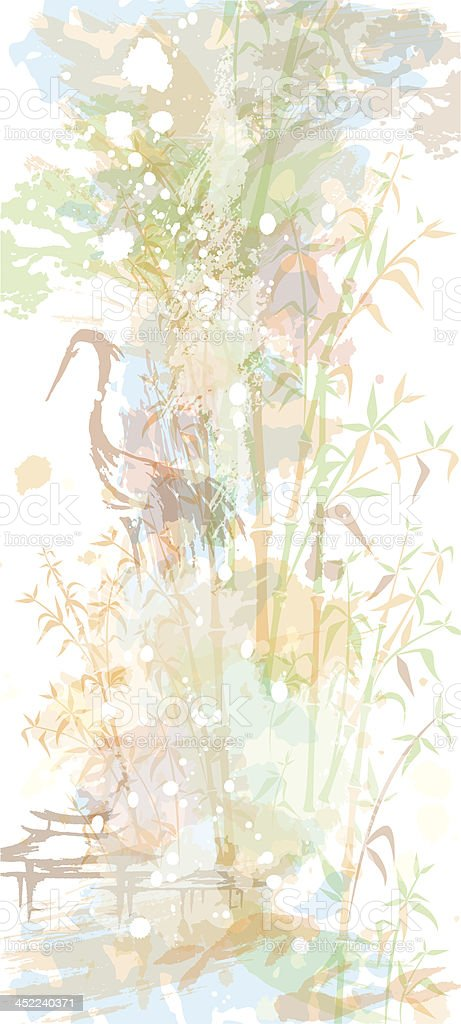 Background in oriental watercolor style royalty-free stock vector art