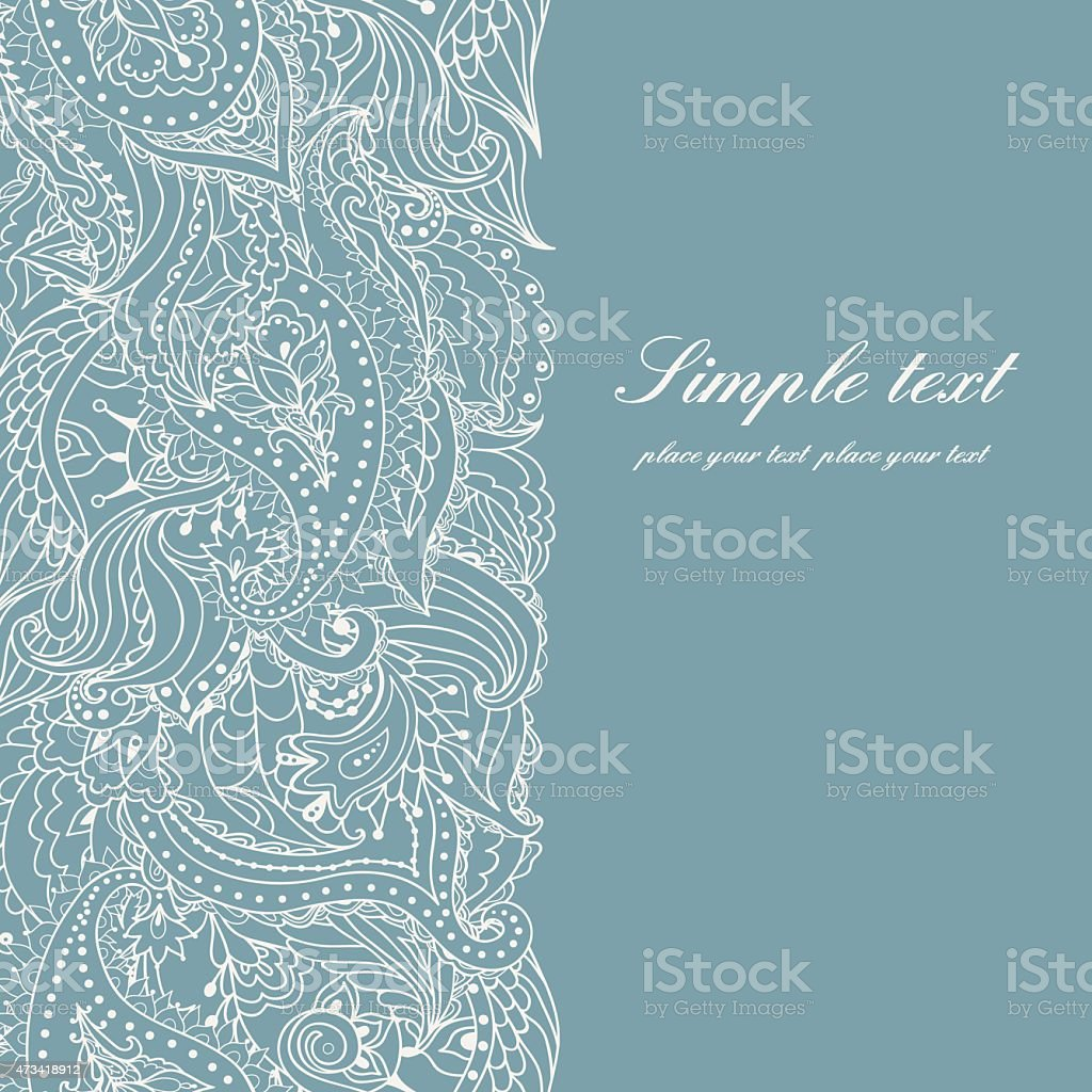 Background invitation with lace vector art illustration