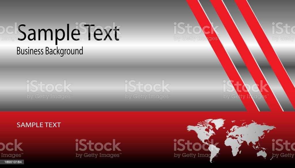 Background metallic silver with world map royalty-free stock vector art