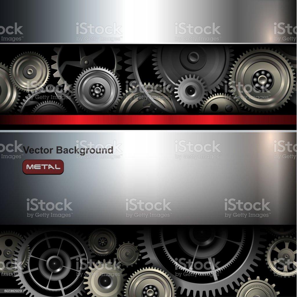 Background metallic vector art illustration