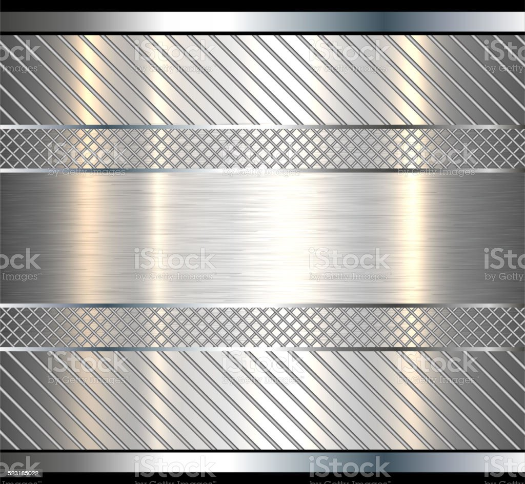 Background metallic with metal texture vector art illustration