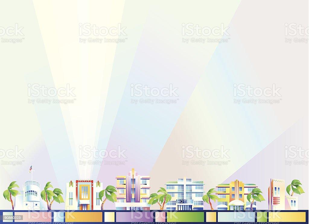 Background - Miami royalty-free stock vector art