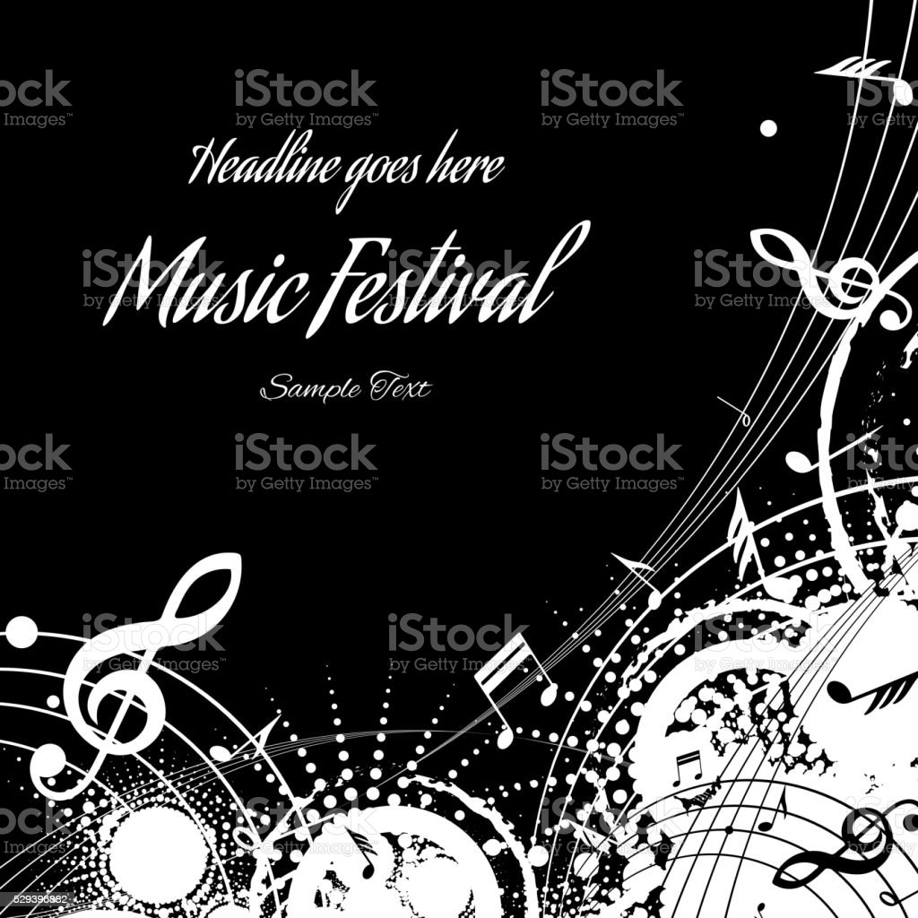 background music, abstraction vector art illustration