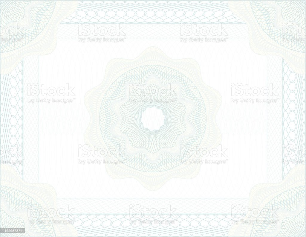 Background of a certificate design royalty-free stock vector art