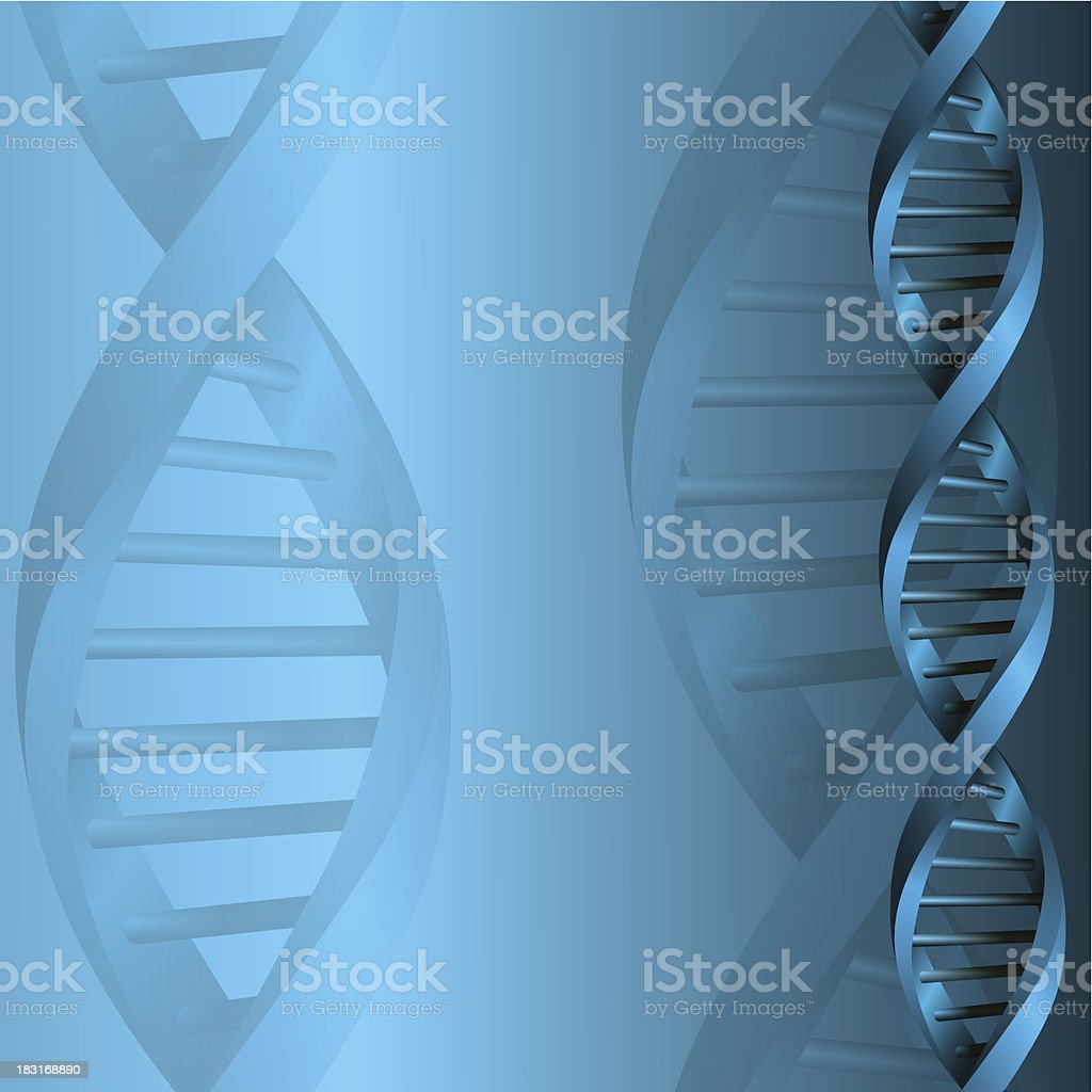 A background of a DNA molecule structure royalty-free stock vector art