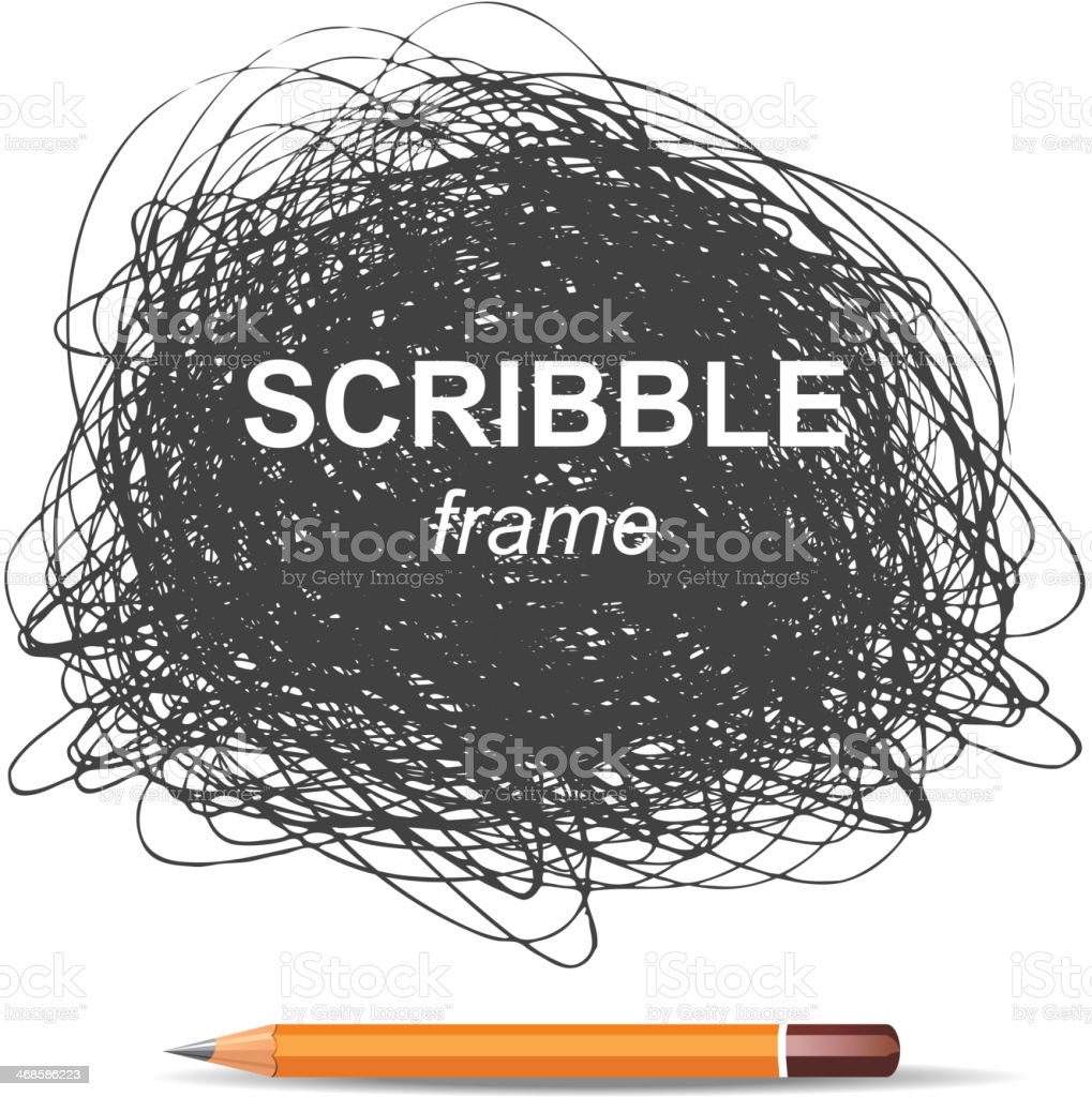 A background of a pencil scribble vector art illustration