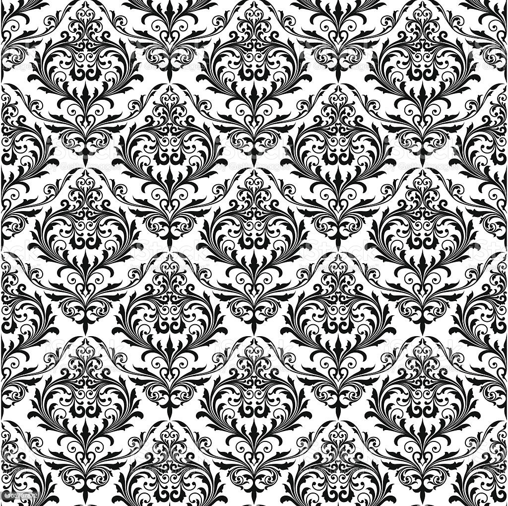 Background of black seamless patterns vector art illustration